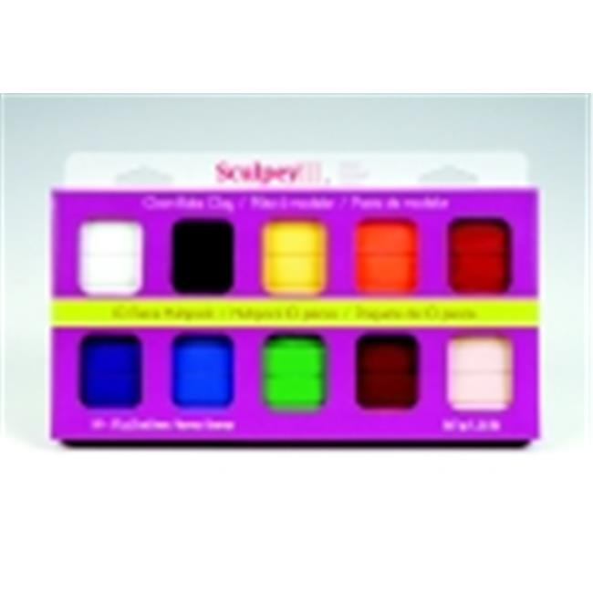 Sculpey Non-Toxic Polymer Modeling Compound - 2 Oz. - Assorted Classic Colors, Set - 10