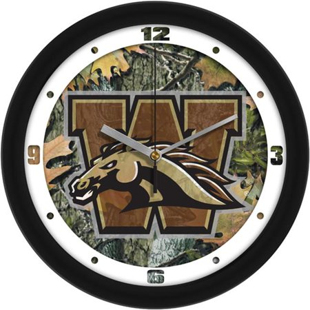 Suntime ST-CO3-WMU-CWCLOCK Western Michigan Broncos-Camo Wall Clock