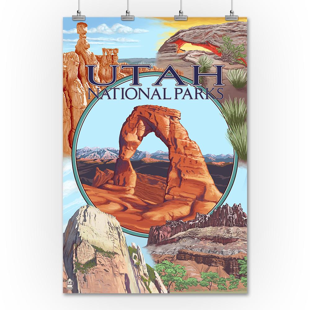 Utah National Parks - Delicate Arch Center - Lantern Pres...