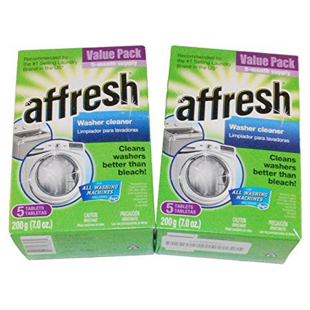 WHIRLPOOL AFFRESH HIGH EFFICIENCY WASHER CLEANER 10 TABLETS 2 (5 PACK)