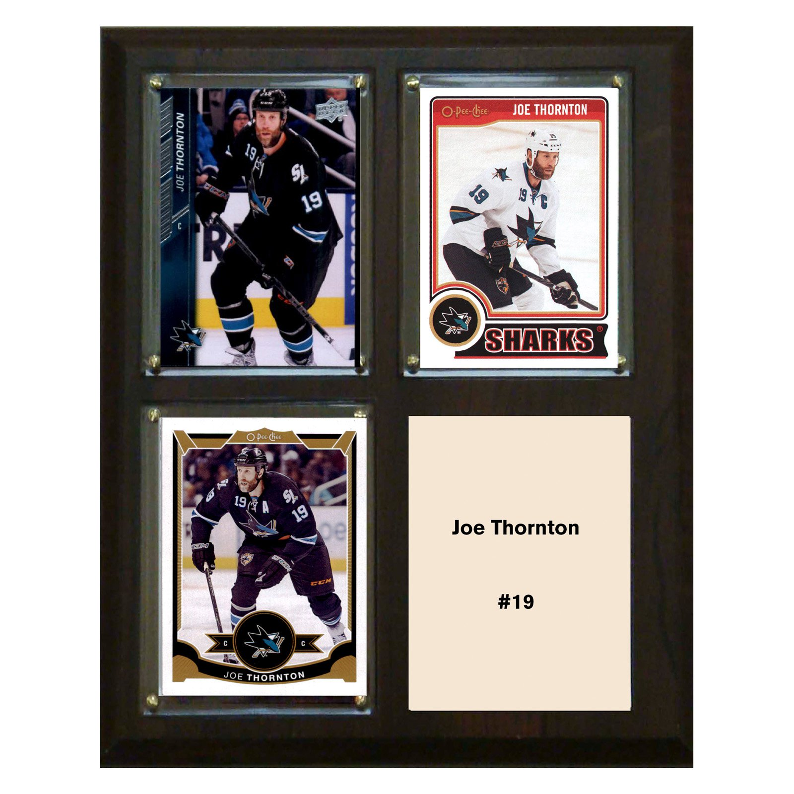 "C & I Collectables NHL 8"" x 10"" Joe Thornton San Jose Sharks 3-Card Plaque"