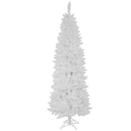 cef50d1bf0a Vickerman Pre-Lit 35  Sparkle White Pencil Pine Artificial Christmas Tree