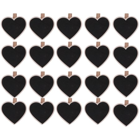 Home Store Wooden Heart Shape DIY Crafts Memo Card Photo Drawing Peg Clip 20pcs - Wooden Halloween Crafts Adults