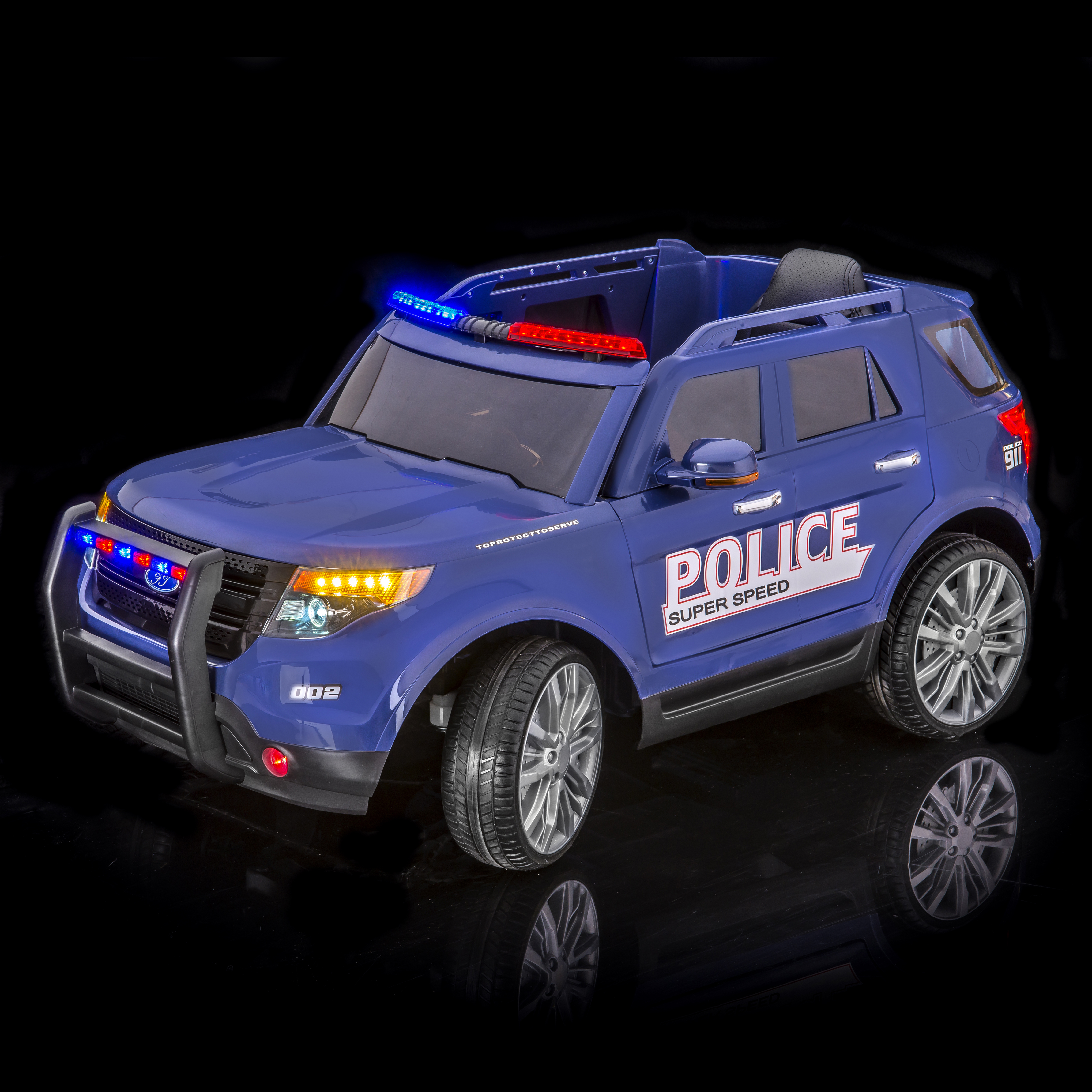 SPORTrax Ford Explorer Style Kid's Ride On Police Truck, Battery Powered, Remote Control, w FREE MP3 Player... by