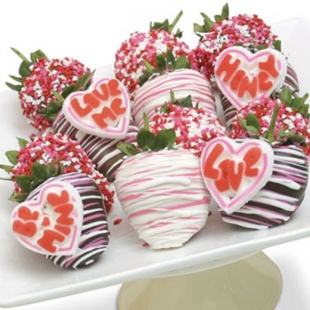 12 Valentines Day Chocolate Covered Strawberries W  Candie