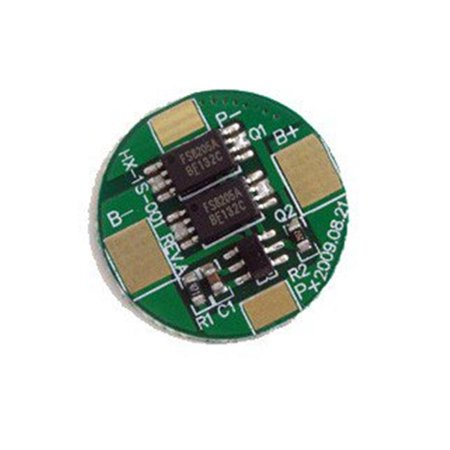 Tenergy Protection Circuit Module (PCB) Round for 3.7V Li-Polymer Battery 3.5A Working