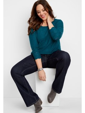 71ef6352c3cff Product Image Maurices Women s Dark Rinse Jean - Plus Size DenimFlex Mid  Rise Bootcut