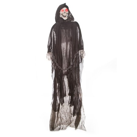 - Darice Standing Reaper Skeleton Decoration Led White And Black