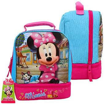 Lunch Bag - Disney - Minnie Mouse w/Drop Bottom New 69338