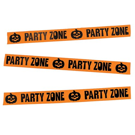 Fun Express - Halloween Classroom Fun Roll Tape for Halloween - Party Decor - Hanging Decor - Streamers - Halloween - 1 Piece - Holloween Express
