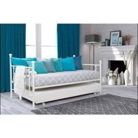 DHP Manila Twin Daybed and Trundle with 2 Mattresses,  Multiple Colors