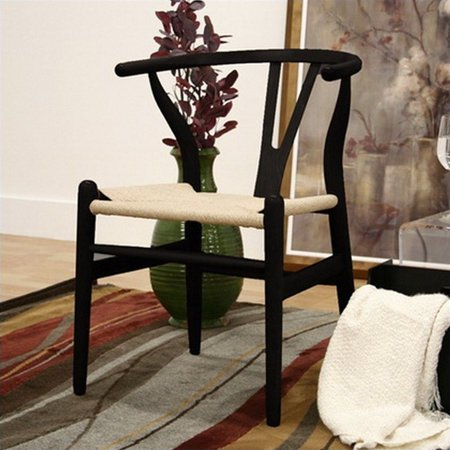 Wishbone Y Dining Chair in Black (Set of 2) - image 2 de 2