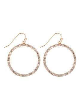 8b096d7c4b1b5 Product Image Riah Fashion Sparkly Simple Lightweight Geometric Open Hoop Drop  Earrings - Cut-Out Dangles Teardrop