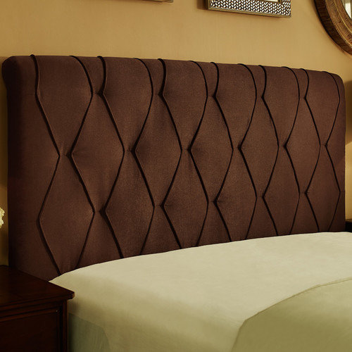Dorel Home Darcy Diamond Tufted Headboard Mocha Walmart Com