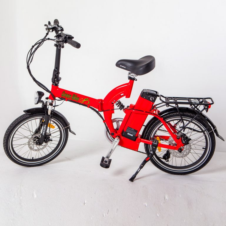 Greenbike USA GB5 Electric Motor Power Bicycle Lithium Battery Folding Bike - FULL SUSPENSION
