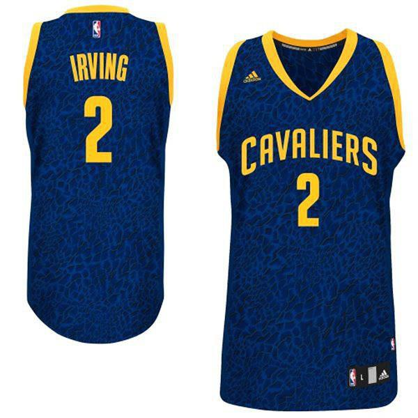 Kyrie Irving Cleveland Cavaliers Crazy Light Leopard Men's Swingman Jersey