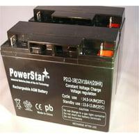 PowerStar PS12-18-2Pack-02 2 Pack Sealed Lead Acid Battery Dr Power Field Mower 10483 104837 12V 17Ah 18Ah