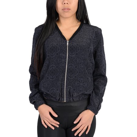 Adidas Womens Ornamental Print Blouson Jacket Black ()