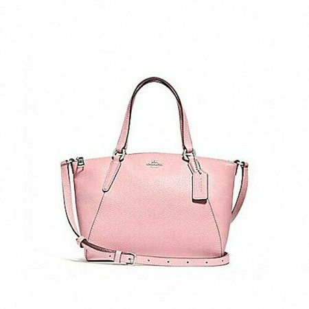 NEW WOMENS COACH (F28994) PETAL PINK PEBBLE LEATHER MINI KELSEY SATCHEL BAG