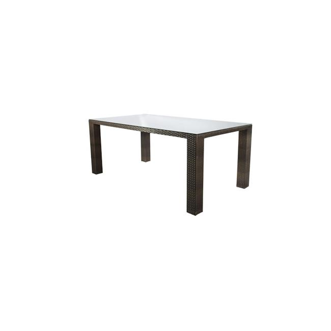 Source Outdoor SO-2003-314-ESP St Tropez Rectangular Shaped Dining Table in Espresso, 6 Seats by Source Outdoor