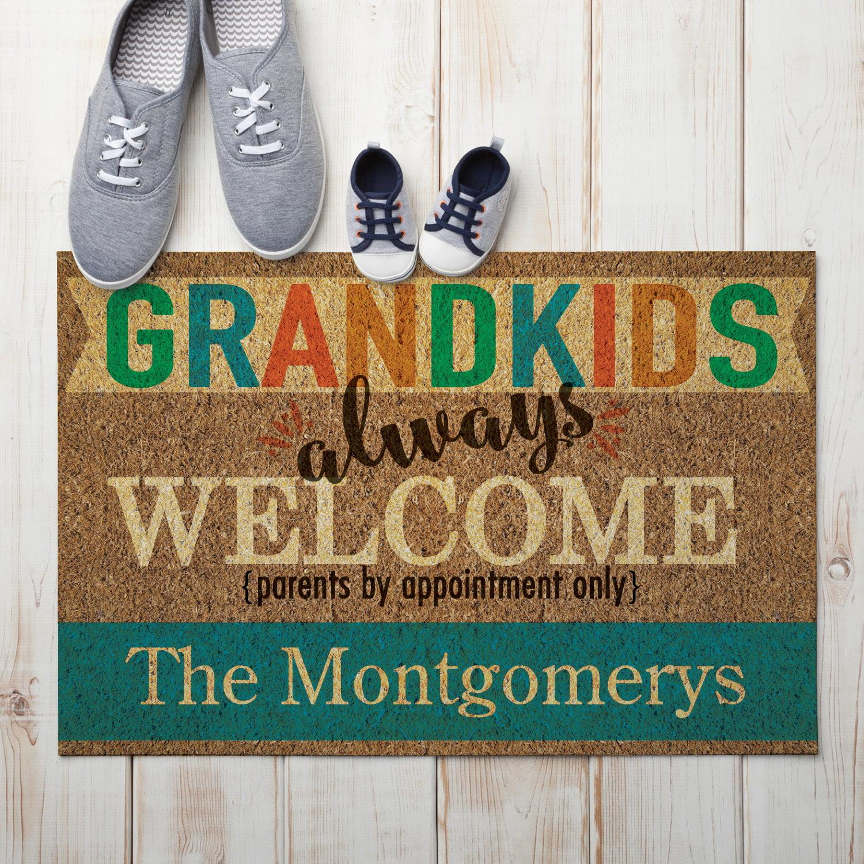 Grandkids Always Welcome Personalized Doormat