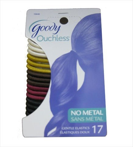Goody Ouchless Metallic Elastic Pony Holder - Set Of Goody Smooth Ouchless Elastic Ponytail Bands In Assorted Colors