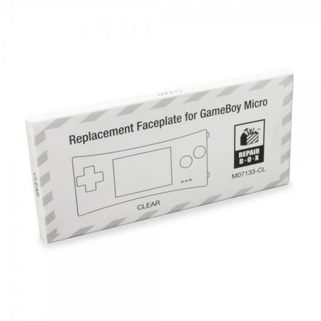 Replacement Faceplate for Game Boy Micro (Clear) - RepairBox (Gameboy Color Faceplates)