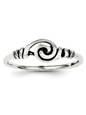 Sterling Silver Antiqued Swirl Ring