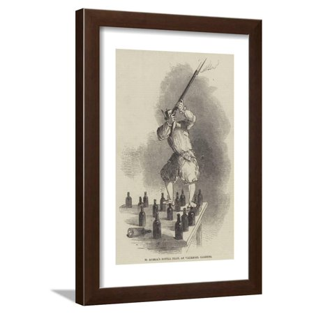 M Auriol's Bottle Feat, at Vauxhall Gardens Framed Print Wall Art