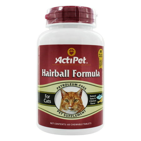 ActiPet - Hairball Formula For Cats - 60 Chewable (Formula Chewable Tablets)
