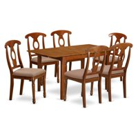 East West Furniture Picasso 7 Piece Keyhole Dining Table Set