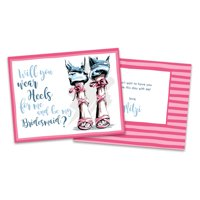 Personalized High Heels Will You Be My Bridesmaid Invitation