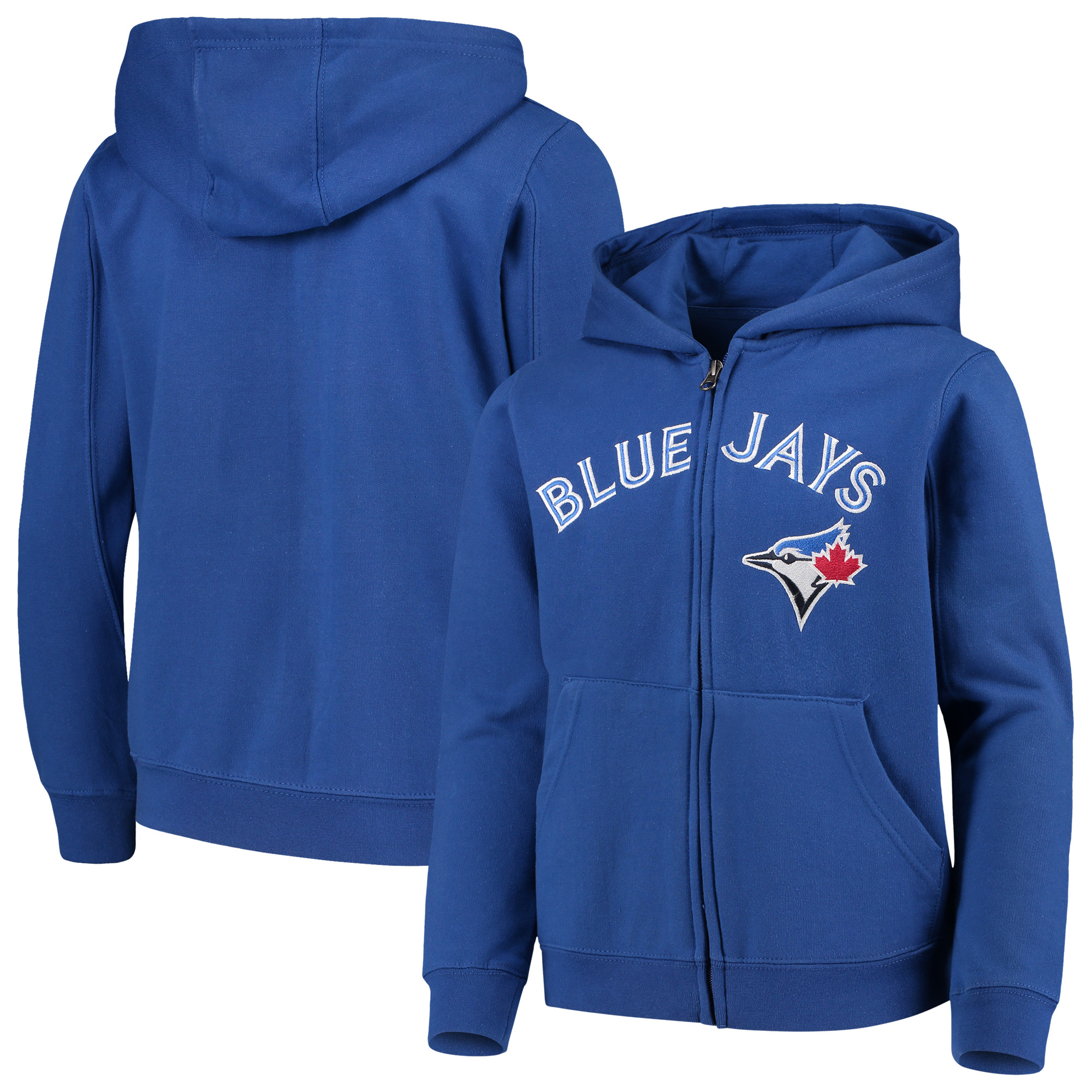 Toronto Blue Jays Youth Team Color Wordmark Full-Zip Hoodie - Royal