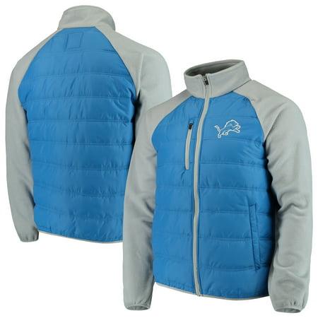 Detroit Lions G-III Sports by Carl Banks Reinforcer Full-Zip Jacket - Blue/Silver (Lion Coat)