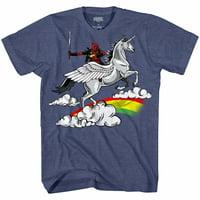 Marvel Deadpool Funny Humor Pun Unicorn Avengers X-Men Dead Pool Glory Graphic Men's Adult T-Shirt Tee Apparel