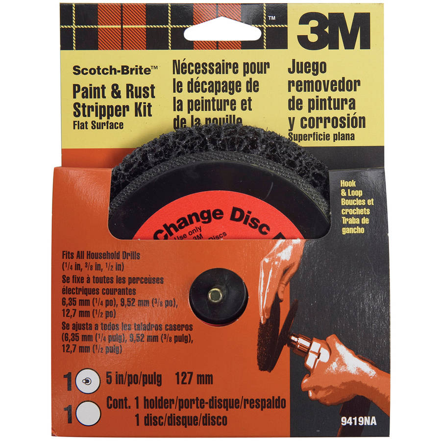 3M 9419NA Scotch-Brite Paint and Rust Stripper Kit Flat Surface