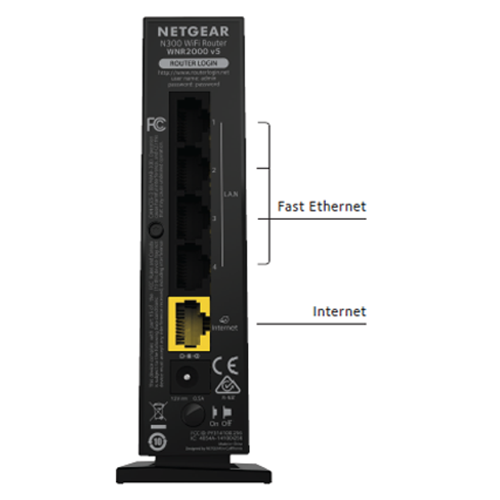 NETGEAR N300 Single Band WiFi Router (WNR2000-100NAS