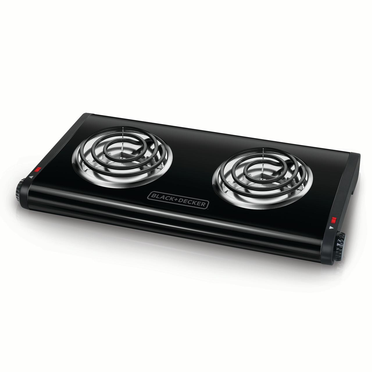 Merveilleux BLACK+DECKER Double Burner Portable Buffet Range, Black, DB1002B