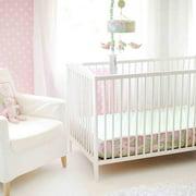 My Baby Sam Pixie Baby Bumperless Crib Sheet, Pink