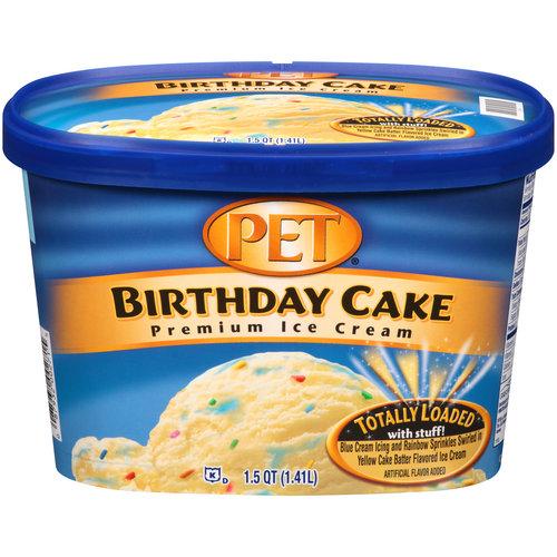 PET Birthday Cake Premium Ice Cream 15 qt Walmartcom