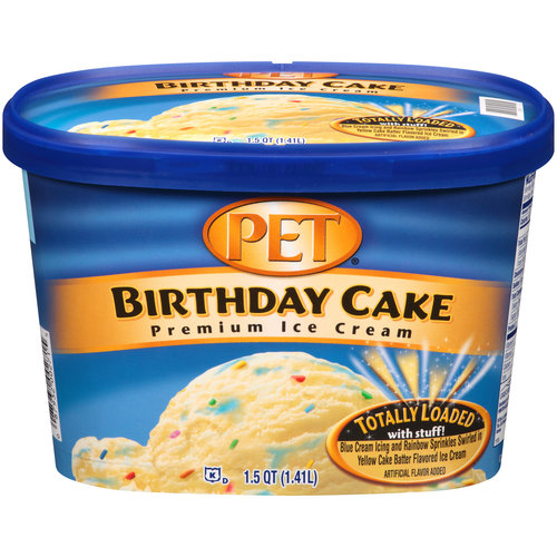 PET Birthday Cake Premium Ice Cream, 1.5 qt