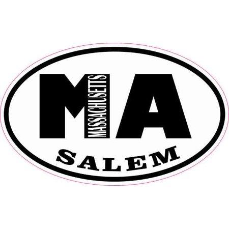 City Of Salem Ma Halloween (4in x 2.5in Oval MA Salem Massachusetts)