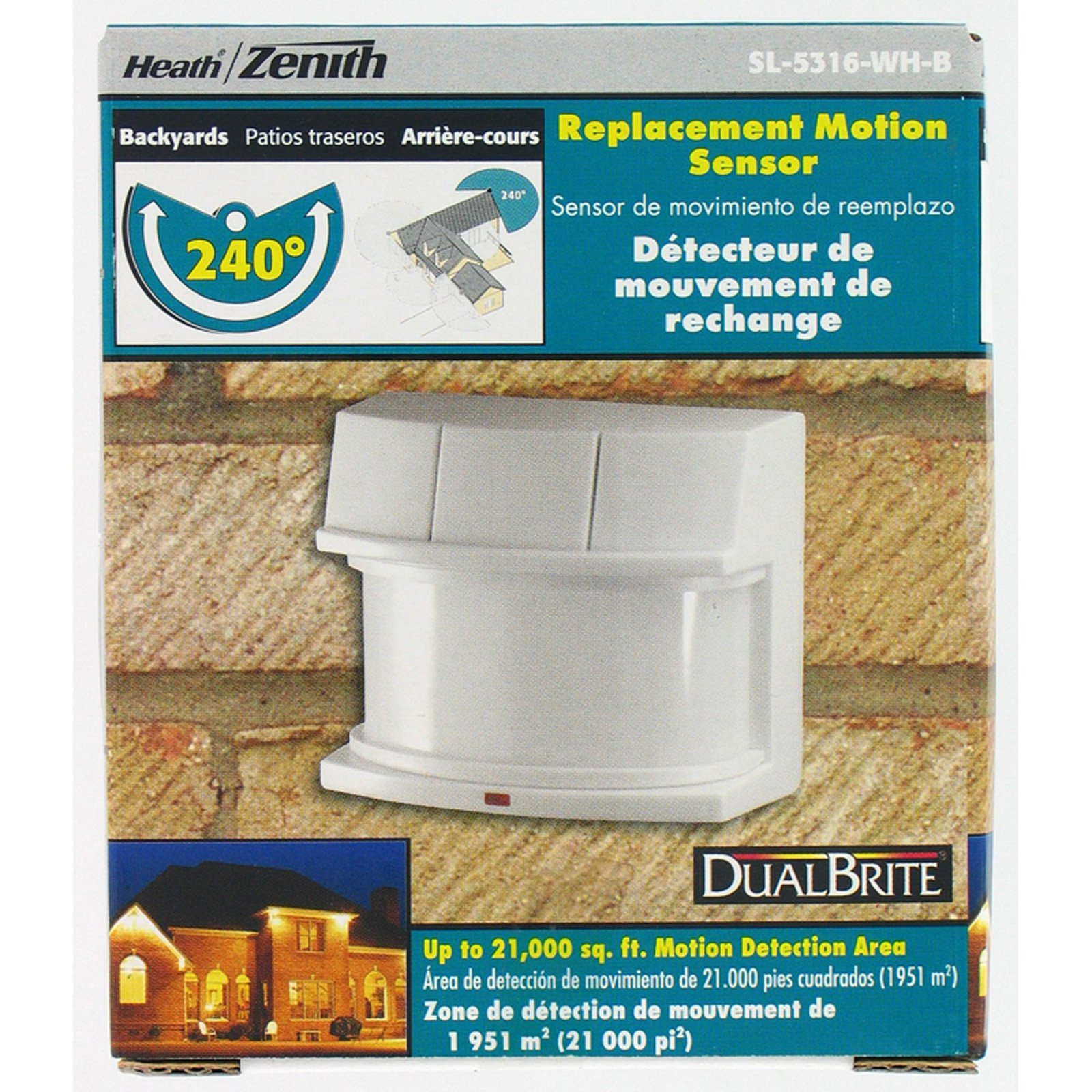 Heathco HZ-5316-WH White Replacement Wide Angle Motion Sensor