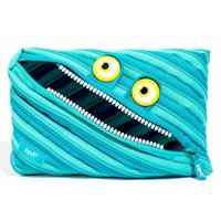 ZIPIT Wildlings Jumbo Pencil Pouch, Blue