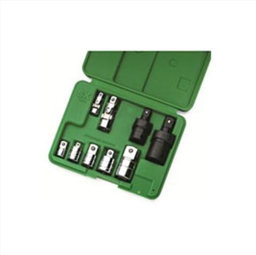 SK Hand Tool 4010 Universal/Adapter Set, 9 Pc