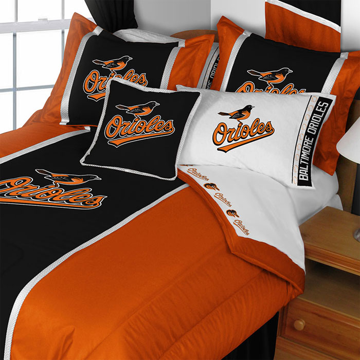 MLB Baltimore Orioles Comforter Set Baseball Bedding Twin