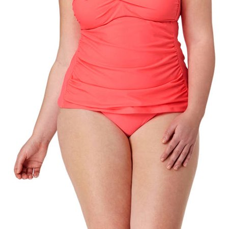 1bb5b80f7e0f Catalina - Collections By Plus-Size Solid High Waist Bikini Swimsuit Bottom  - Walmart.com