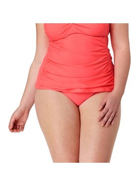 5273f1d8142 Product Image Collections By Plus-Size Solid High Waist Bikini Swimsuit  Bottom. Catalina