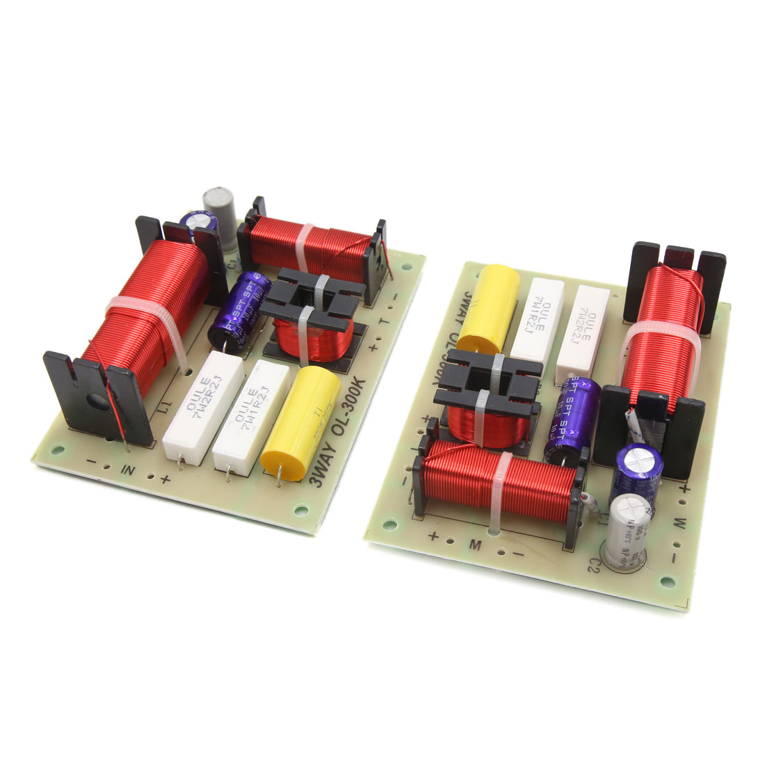 2Pcs 180W 3 Way Audio Speaker Frequency Divider Aplifier Crossover Filters Board