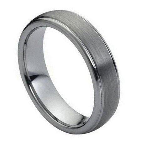 TK Rings 039TR-6mmx7.5 6 mm Domed Brushed Center High Polish Ridge Edge Tungsten Ring - Size 7.5 - image 1 de 1